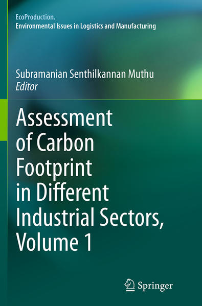 Assessment of Carbon Footprint in Different Industrial Sectors, Volume 1 - Coverbild